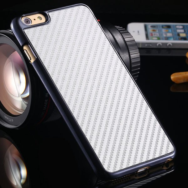 I6 Carbon Fiber Slim Hard Cover For Iphone 6 4.7Inch Back Case Wit 32251706070-5-white