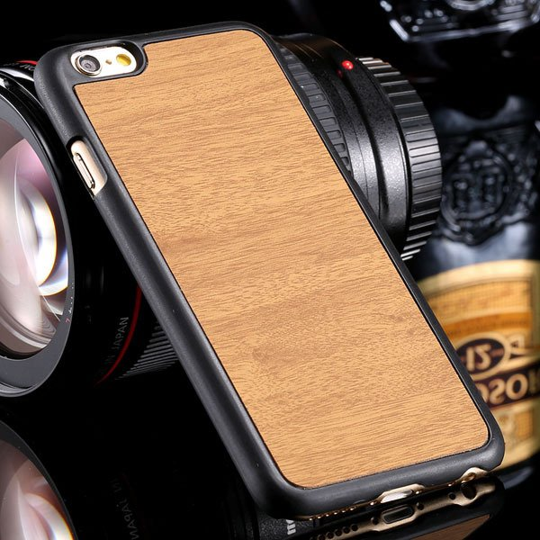 Retro Wood Pattern Phone Cover For Iphone 6 4.7Inch Back Case Slim 32254644312-2-yellow