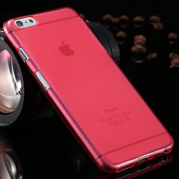 I6 Plus Clear Case Full Flip Cover For Iphone 6 Plus 5.5Inch Soft  2053095298-4-red