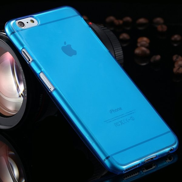 I6 Plus Clear Case Full Flip Cover For Iphone 6 Plus 5.5Inch Soft  2053095298-5-deep blue