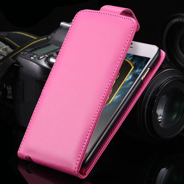 I6 Pu Leather Case Flip Vertical Cover For Iphone 6 4.7Inch Full P 32251126136-7-hot pink