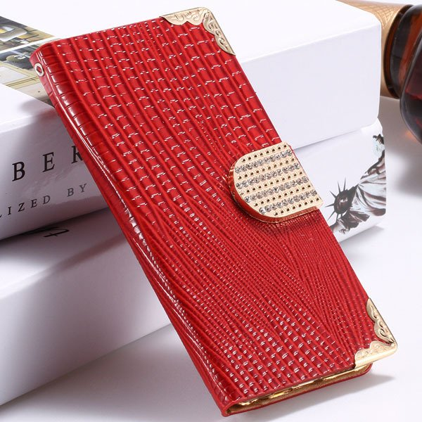 I6 Plus Bling Diamond Case Flip Wallet Cover For Iphone 6 Plus 5.5 32231890571-3-red