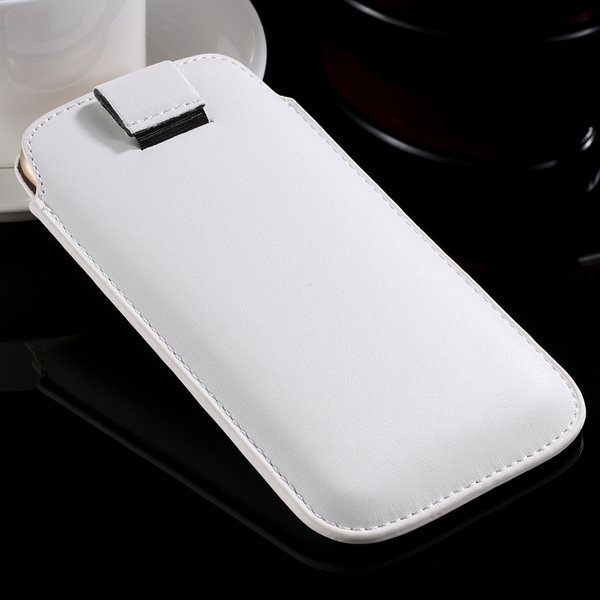 I6 Universal Mini Phone Case For Iphone 6 4.7Inch Pu Leather Cover 32261117883-2-white