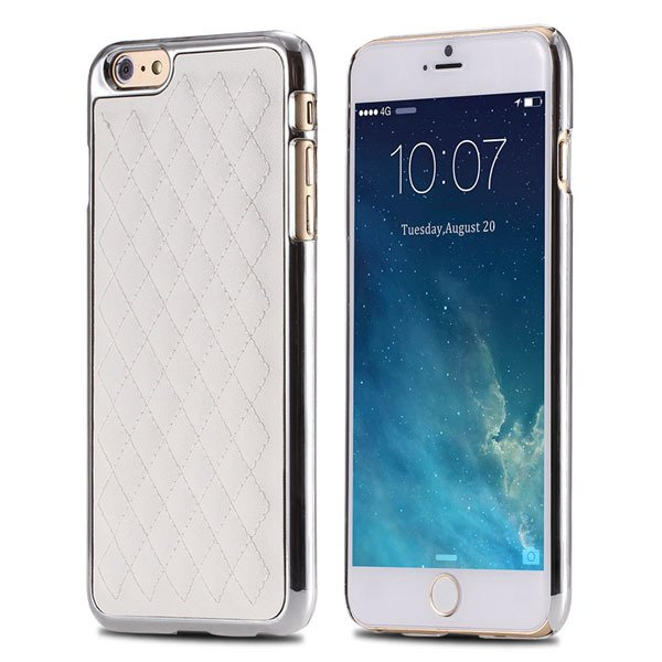 I6 Luxury Pu Leather Case Back Phone Cover For Iphone 6 4.7Inch Sl 32236842197-4-white and silver