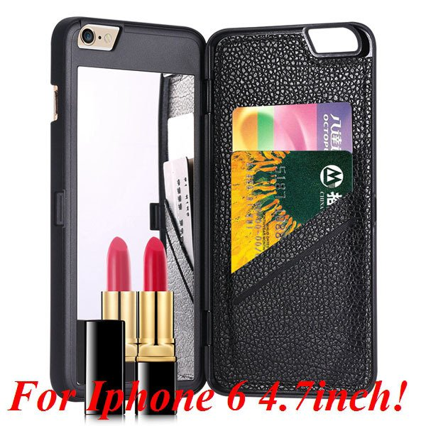 I6/6 Plus Mirror Case Luxury Lady Fashion Cover For Iphone 6 4.7In 32282895782-1-black for iphone 6