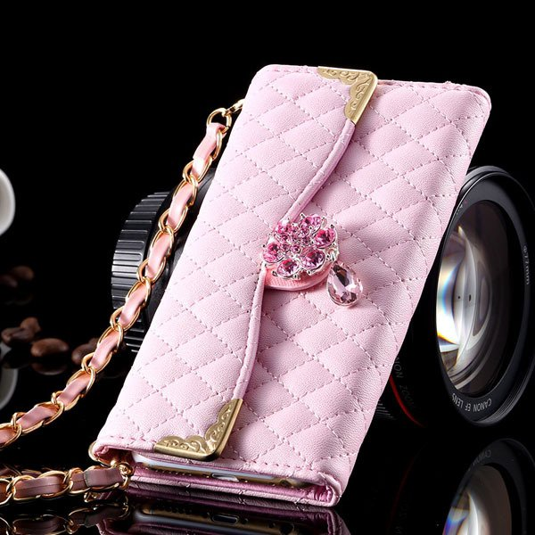 I6 Plus Bling Diamond Wallet Case Full Cover For Iphone 6 Plus 5.5 32267565100-7-pink