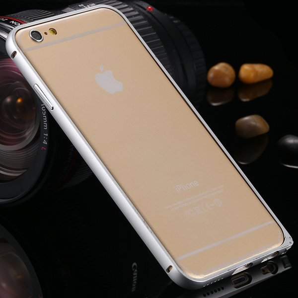 I6 Metal Frame Case Aluminum Cover For Iphone 6 4.7Inch Slim Back  2055175192-1-silver