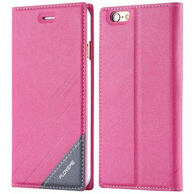 I6 Magnetic Closed Case Premium Pu Leather Cover For Iphone 6 4.7I 32268138847-3-hot pink