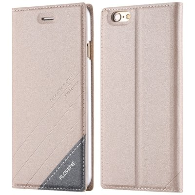 I6 Magnetic Closed Case Premium Pu Leather Cover For Iphone 6 4.7I 32268138847-5-gold