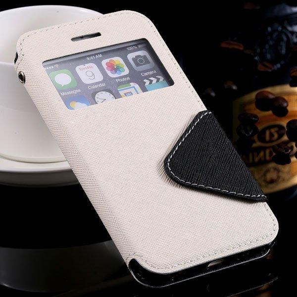 I6 Plus Flip Case Pu Leather Window Cover For Iphone 6 Plus 5.5Inc 32272022930-6-white