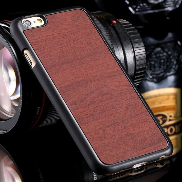 Fashion Wood Pattern Ultra Slim Cover For Iphone 6 Plus 5.5Inch Ba 32254013883-1-brown
