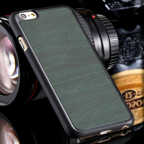 Fashion Wood Pattern Ultra Slim Cover For Iphone 6 Plus 5.5Inch Ba 32254013883-6-dark green