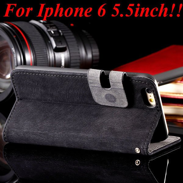 I6 Plus Flip Case Top Quality Full Cover For Iphone 6 Plus 5.5Inch 32235685915-1-black