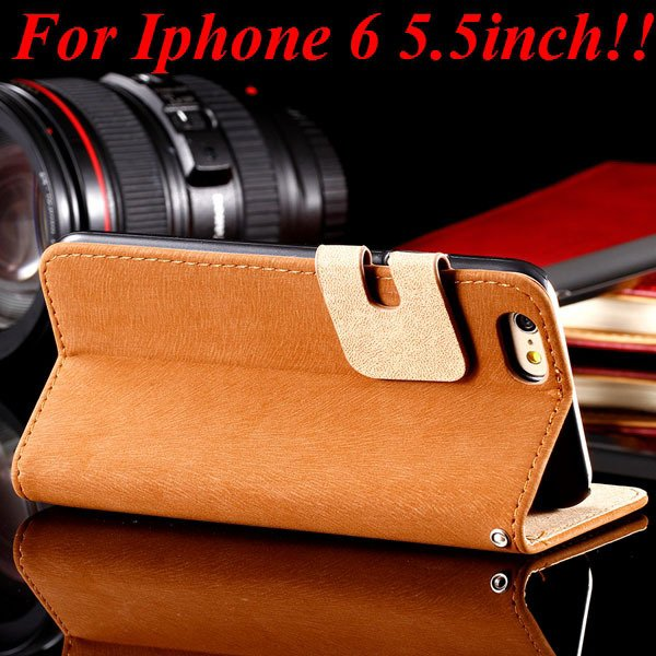I6 Plus Flip Case Top Quality Full Cover For Iphone 6 Plus 5.5Inch 32235685915-5-brown