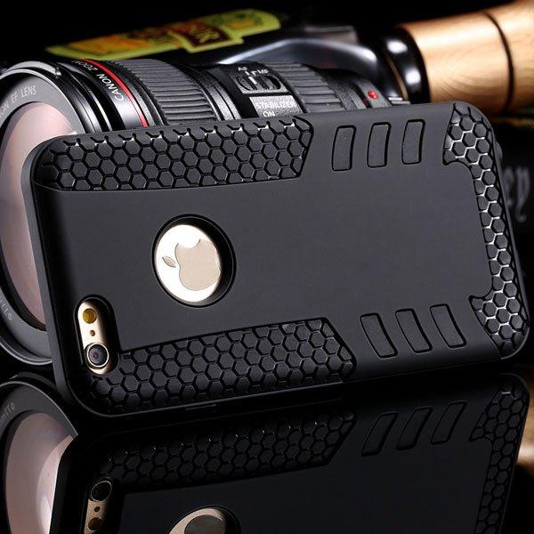 Anti-Knock Rocket Back Case For Iphone 6 4.7Inch Hard Pc Frame + S 32249540997-4-black