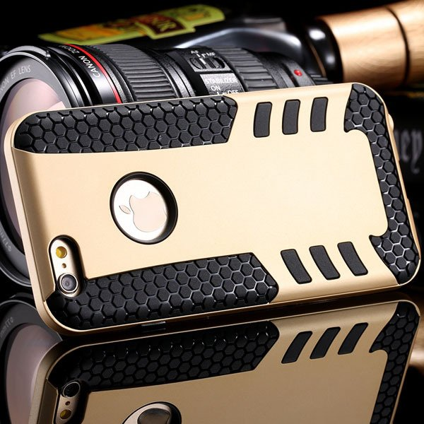 Anti-Knock Rocket Back Case For Iphone 6 4.7Inch Hard Pc Frame + S 32249540997-5-gold