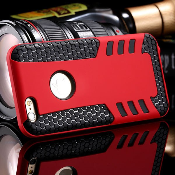Anti-Knock Rocket Back Case For Iphone 6 4.7Inch Hard Pc Frame + S 32249540997-6-red