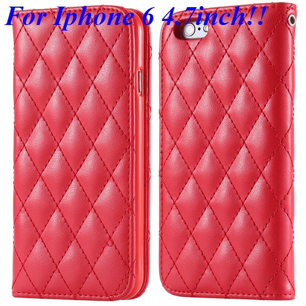 I6 Full Case Magnetic Protect Phone Case For Iphone 6 4.7Inch Flip 32261161199-3-red