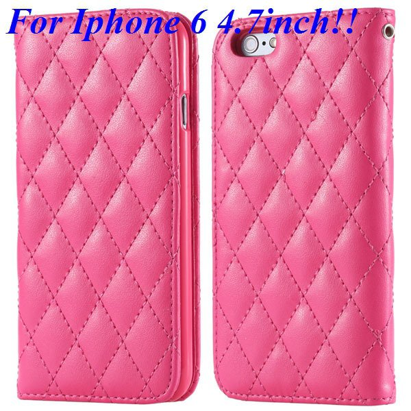 I6 Full Case Magnetic Protect Phone Case For Iphone 6 4.7Inch Flip 32261161199-4-hot pink