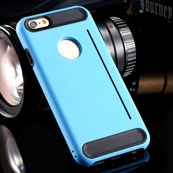 Newest Back Phone Cover For Iphone 6 4.7Inch Slim Case Hard Pc + S 32249635151-2-sky blue