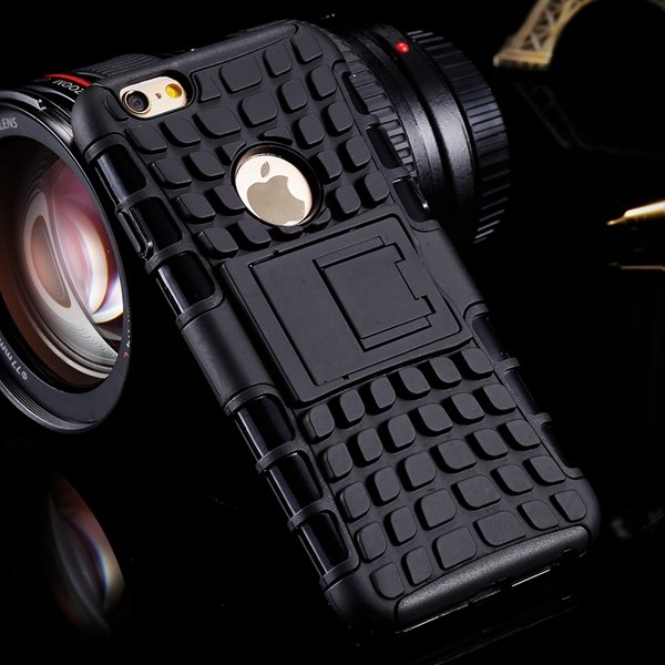 I6 Plus Heavy Duty Armor Cover Kickstand Display Case For Iphone 6 32294378230-1-black