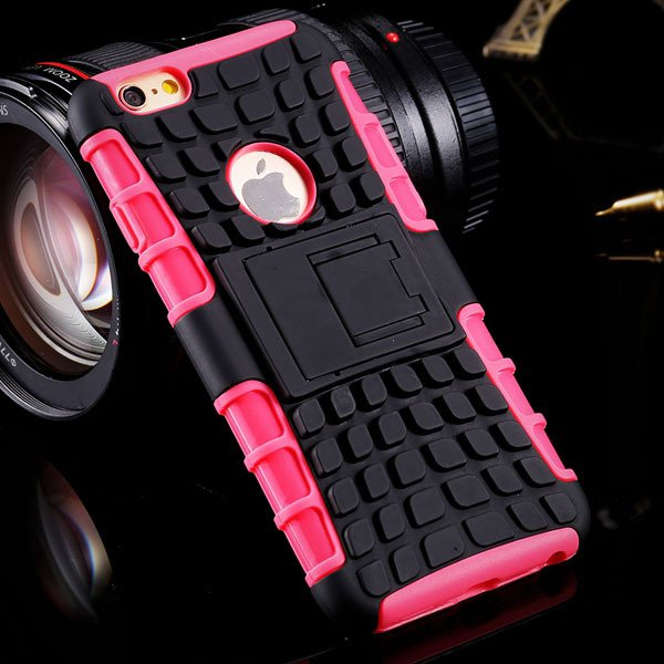 I6 Plus Heavy Duty Armor Cover Kickstand Display Case For Iphone 6 32294378230-8-pink