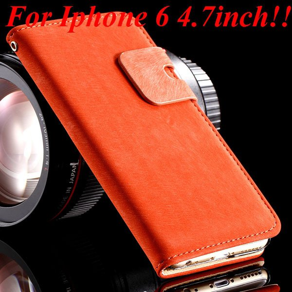 I6 Flip Case Luxury Smooth Pu Leather Cover For Iphone 6 4.7Inch F 32235574059-3-red