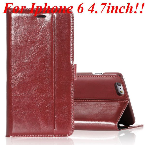 I6 Genuine Leather Case Flip Cover For Iphone 6 4.7Inch Full Pouch 32236273852-5-brown