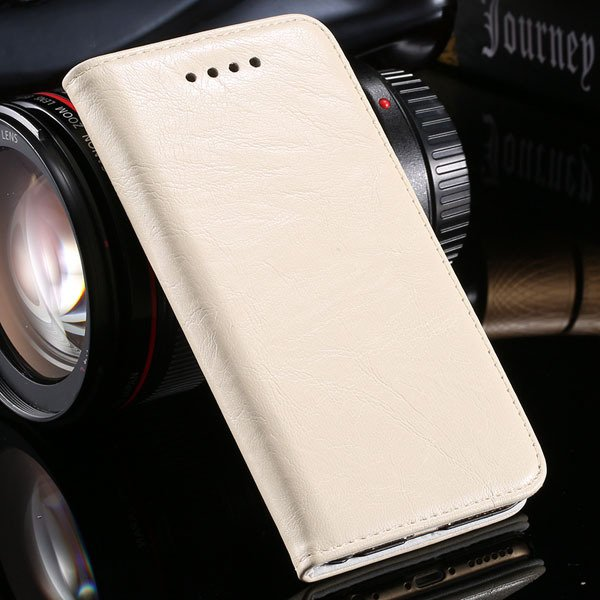 Magnetic Protect Flip Cover For Iphone 6 4.7Inch Genuine Leather C 32249949350-3-beige