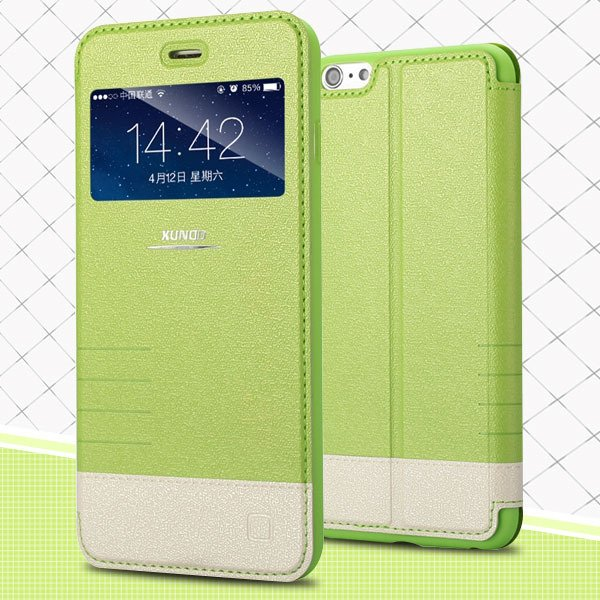 I6 View Case Window Display Full Cover For Iphone 6 4.7Inch Mirage 32216116917-5-green