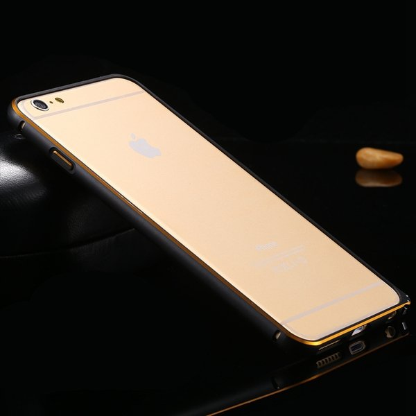 Shiny Gold Metal Frame Cell Phone Cover For Iphone 6 Plus 5.5Inch  32214039005-4-black