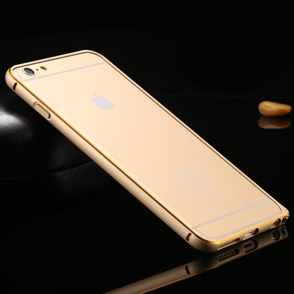 Shiny Gold Metal Frame Cell Phone Cover For Iphone 6 Plus 5.5Inch  32214039005-5-gold