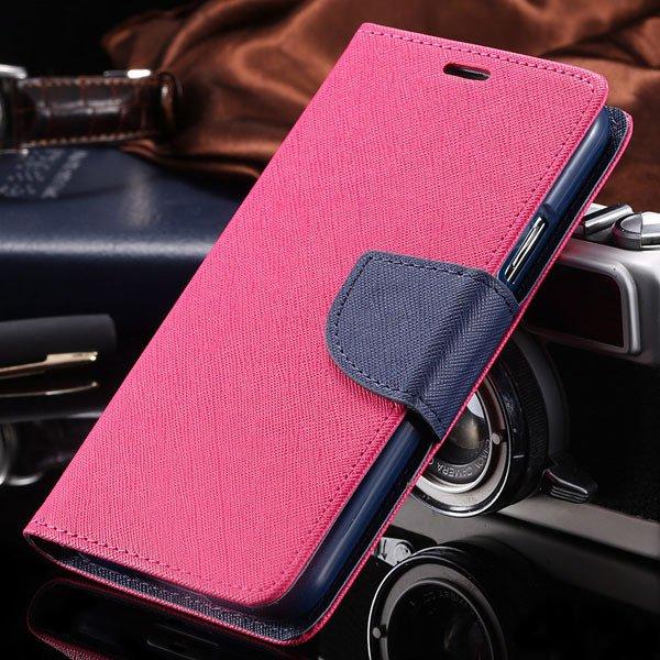 New Fashion Brilliant Pu Wallet Case For Samsung Galaxy S5 V I9600 1790235872-12-hot pink