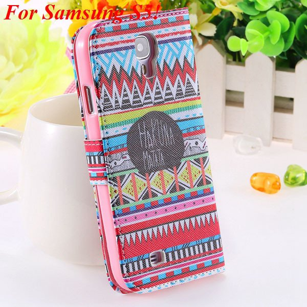 Colorful Mat Pattern Wallet Case For Samsung Galaxy S4 I9500 S5 I9 1925779940-11-S5 small culture