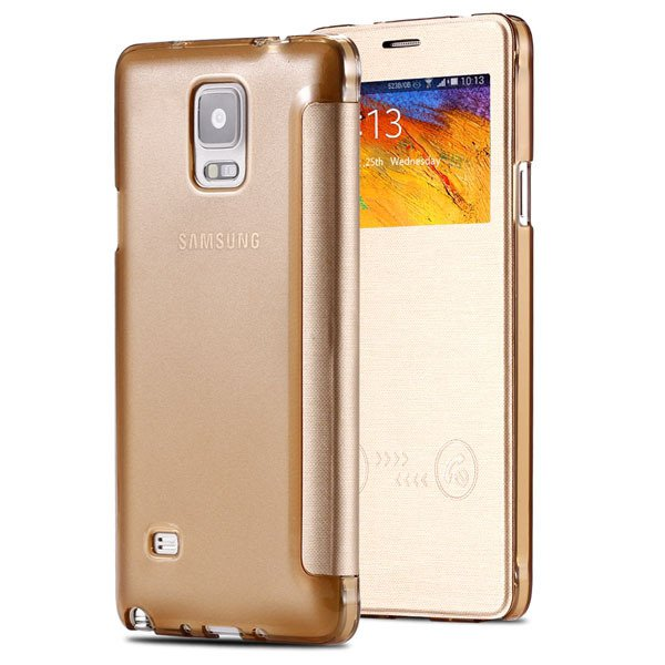 For Note 4 Smart Window Display View Case For Samsung Galaxy Note  32236551279-1-gold