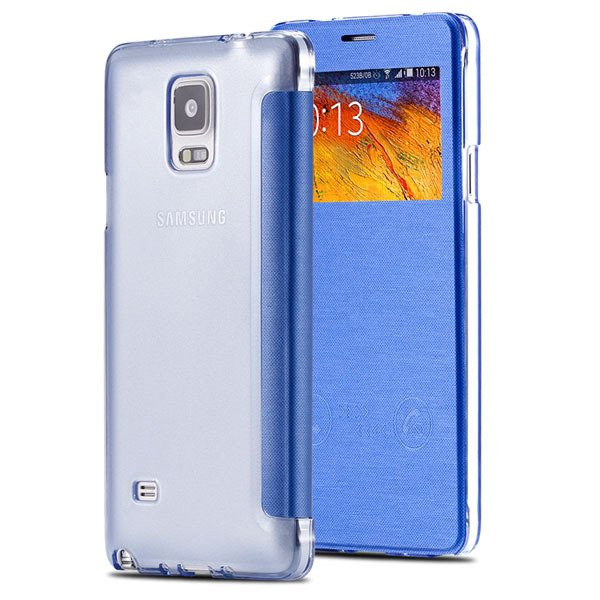For Note 4 Smart Window Display View Case For Samsung Galaxy Note  32236551279-5-sky blue