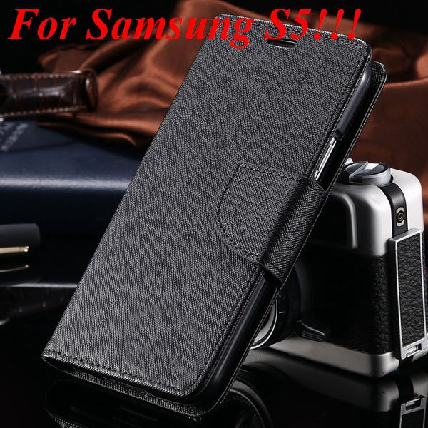 Flip Full Pu Leather Cover Case For Samsung Galaxy S5 I9600 S4 I95 1778570122-16-full black for s5
