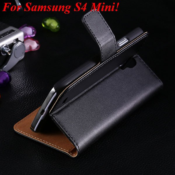 Genuine Korea Style Ultra Thin Leather Case For Samsung Galaxy S4  1850888618-1-black for S4 Mini