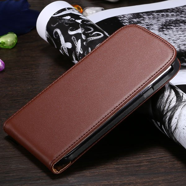 S3 Genuine Leather Case Flip Vertical Cover For Samsung Galaxy Sii 1790519925-7-brown