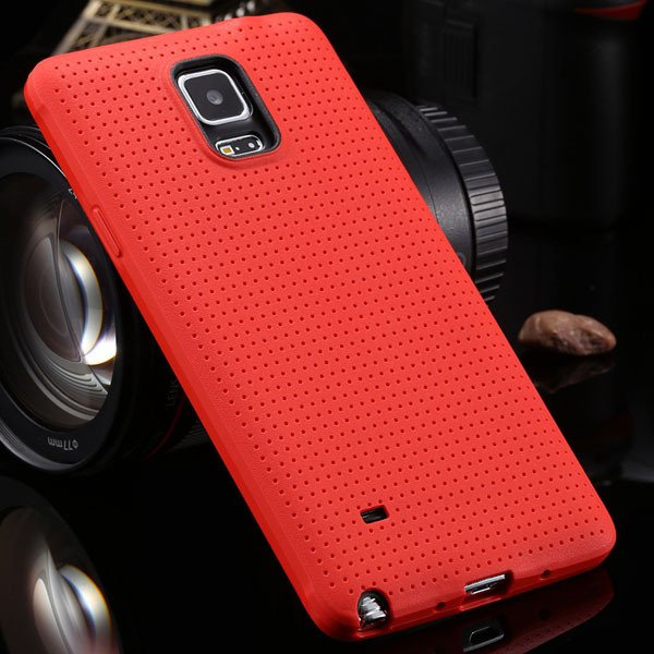 For Note 4 Tpu Case Slim Back Cover For Samsung Galaxy Note 4 Iv N 2041770146-3-red
