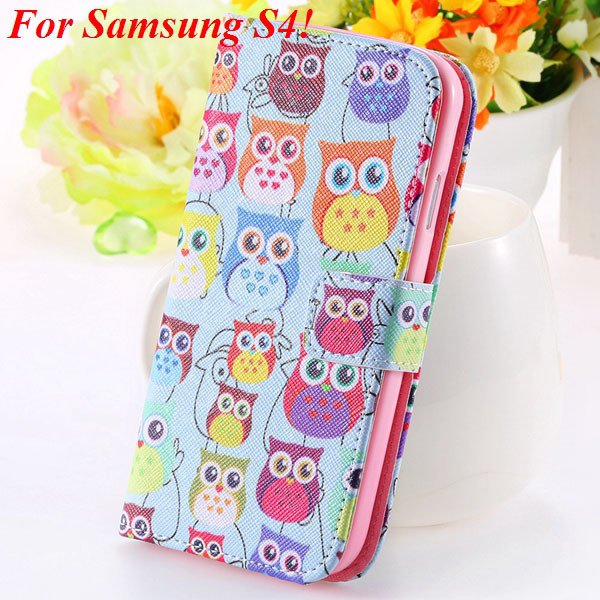 S5 S4 Case Flip Pu Leather Cover For Samsung Galaxy S5 I9600 S4 I9 1925680254-7-s4 many owls