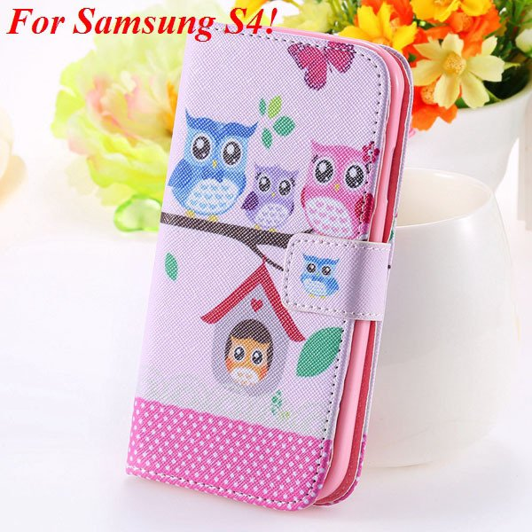 S5 S4 Case Flip Pu Leather Cover For Samsung Galaxy S5 I9600 S4 I9 1925680254-8-s4 owl on tree