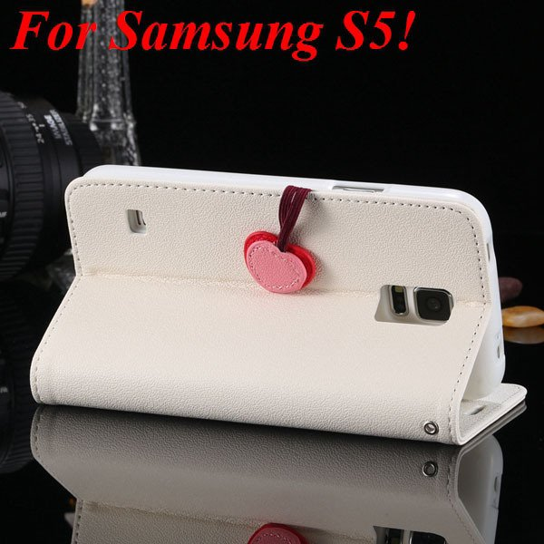 For Samsung S5 S4 S3 Luxury Pu Leather Case Full Protect Cover For 1879055763-14-white for S5