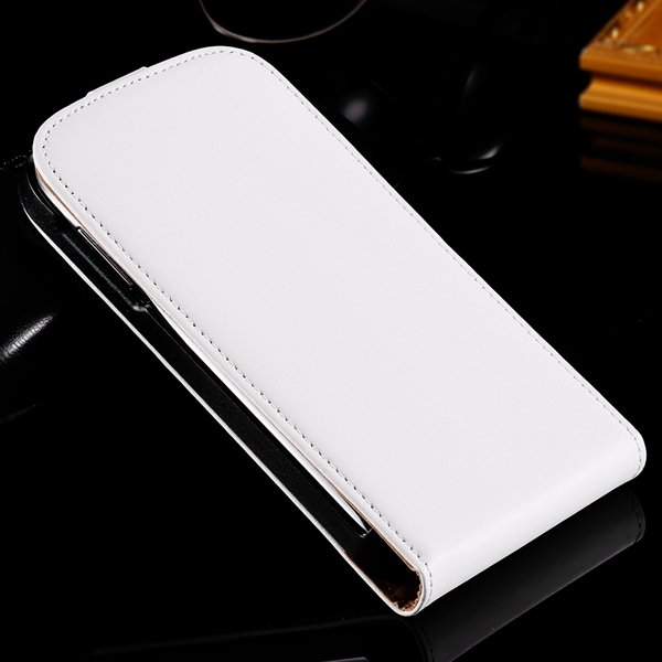 For Duos I9082 Genuine Leather Case Full Body Cover With Magnetic  1335985248-2-White