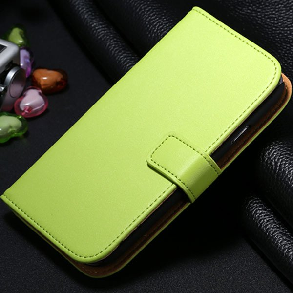 S3 Genuine Leather Case Flip Wallet Cover For Samsung Galaxy S3 Si 1772136100-5-green