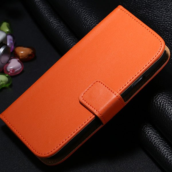 S3 Genuine Leather Case Flip Wallet Cover For Samsung Galaxy S3 Si 1772136100-7-orange