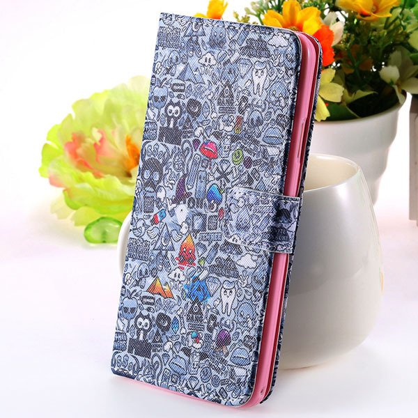 New Mat Pattern Pu Leather Case For Samsung Galaxy Note 3 Iii N900 1925915387-6-gray wizard