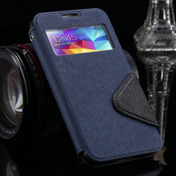 S5 Window Display View Case For Samsung Galaxy S5 I9600 Korea Diar 1877348597-7-deep blue
