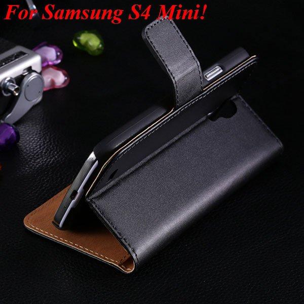S4 Mini Genuine Leather Case For Samsung Galaxy S4 Mini I9190 Flip 1850946514-1-black