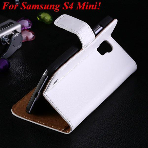 S4 Mini Genuine Leather Case For Samsung Galaxy S4 Mini I9190 Flip 1850946514-8-white